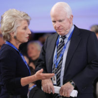 Jane Harman (Director, President, and CEO of the Woodrow Wilson Center) and US Senator John McCain