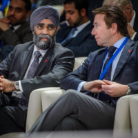 Minister Harjit Sajjan (Minister of National Defence, Canada) and The Hon. Scott Brison (President of the Treasury Board, Canada)