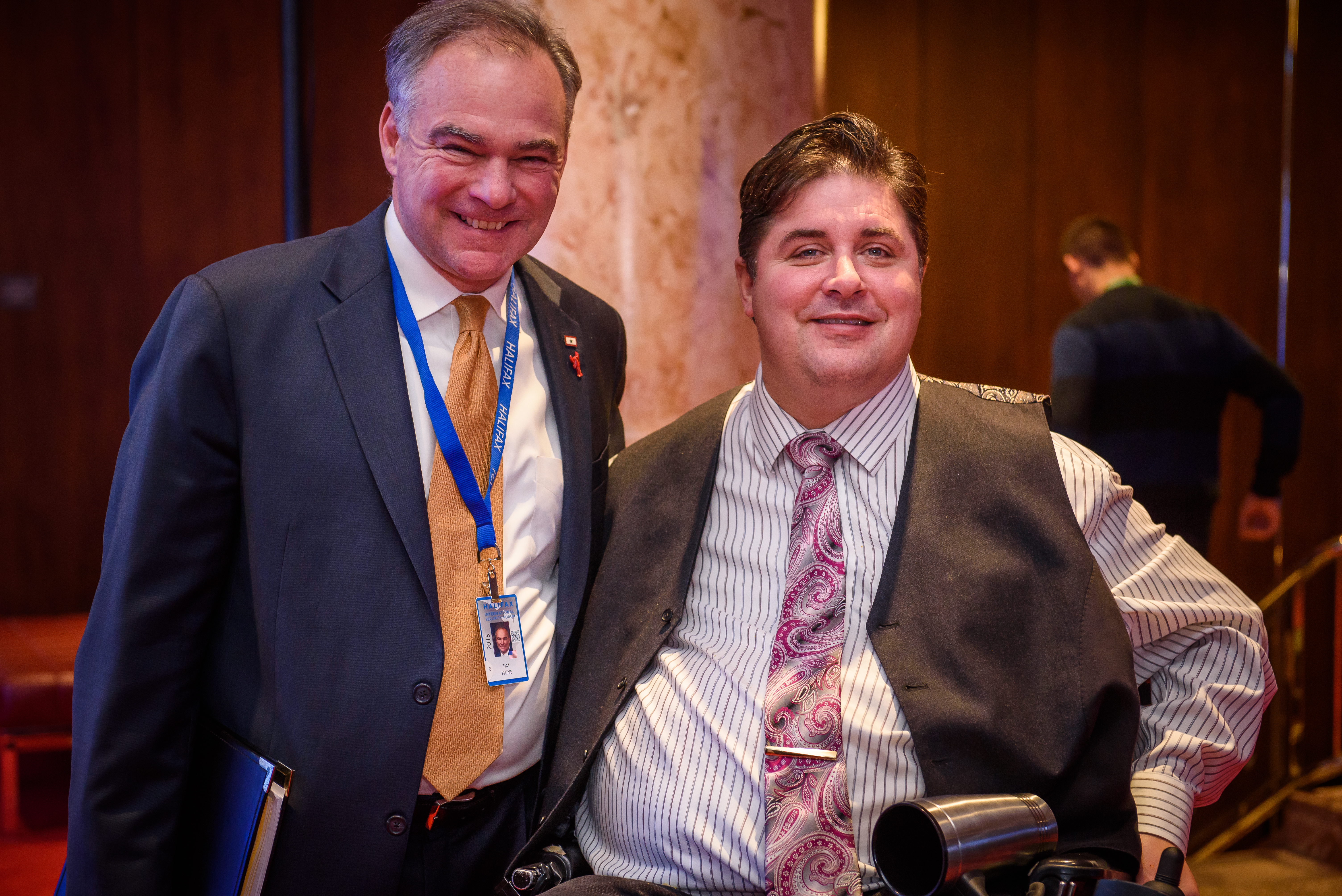 US Senator Tim Kaine and Minister Kent Hehr (Minister of Veterans Affairs, Canada)