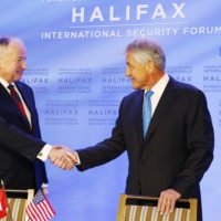 Minister Rob Nicholson (Minister of National Defence, Canada) meets Secretary Chuck Hagel (Secretary of Defense, United States)