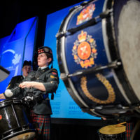 Bagpipe Corps at the Friday Night Gala Dinner