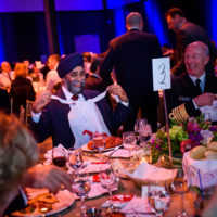 Minister Harjit Sajjan (Minister of National Defence, Canada) and General Haakon Bruun-Hanssen (Chief of Defence, Norway) at the Friday Night Gala Dinner