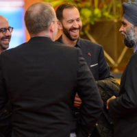 Peter Van Praagh (President, Halifax International Security Forum), David Kramer (Senior Director for Human Rights and Human Freedom, McCain Institute for International Leadership), Jonathan Tepperman (Managing Editor, Foreign Affairs), and Minister Harjit Sajjan (Minister of National Defence, Canada)
