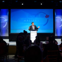 Mike Savage (Mayor, City of Halifax) speaking at the Friday Night Gala Dinner