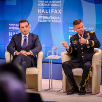 Irakli Alasania (Former Minister of Defense, Georgia) and General David Perkins (Commanding General, US Army Training and Doctrine Command)
