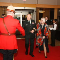 General Walter Natynczyk (Former Chief of Defence Staff, Canadian Armed Forces) and Leslie Natynczyk arrive at the Forum