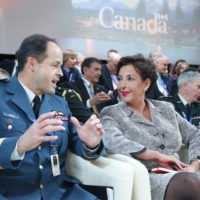 General Thomas Lawson (Chief of the Defence Staff, Canadian Armed Forces) and Raghida Dergham (Columnist and Senior Diplomatic Correspondent, Al Hayat)