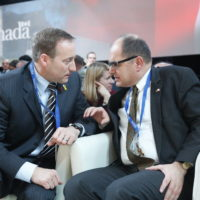 Minister Peter MacKay (Minister of National Defence, Canada) and Christopher Schmidt (Parliamentary State Secretary, Federal Ministry of Defense, Germany)