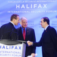 Minister Peter MacKay (Minister of Justice, Canada), Minister Rob Nicholson (Minister of National Defence, Canada), and Peter Van Praagh (President, Halifax International Security Forum)