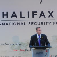 Minister Peter MacKay (Minister of National Defence, Canada) addresses the Forum