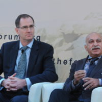James Miller (Undersecretary of Defense for Policy, US Department of Defense) and Mobasshar Javed Akbar (Editorial Director, India Today and Headlines Today)