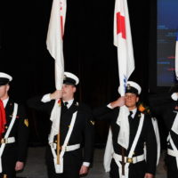 Presentation of the Color Guard at the Friday Night Gala Dinner