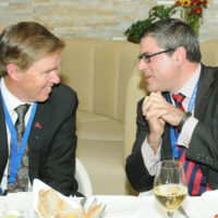 Bill McCaffrey (President and CEO, MEG Energy Corporation) and Roman Jakič (Minister of Defense, Republic of Slovenia)