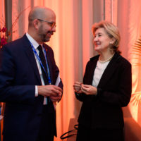 Peter Van Praagh (President, Halifax International Security Forum) and Kay Bailey Hutchison (United States Permanent Representative to NATO)