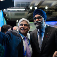 Vikas Swarup (High Commissioner of India to Canada) with Harjit Sajjan (Minister of National Defence of Canada)