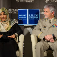 Tawakkol Karman (Nobel Peace Laureate and Founder of Women Without Chains) and General Petr Pavel (Chairman of the Military Committee, NATO)
