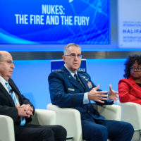 """Moshe Ya'alonv (President of Manhigut Acheret and former Minister of Defence, Israel), John Hyten (Commander of US Strategic Command), Bonnie Jenkins (Visiting Fellow, Perry World House, University of Pennsylvania) on """"Nukes: The Fire and the Fury"""""""