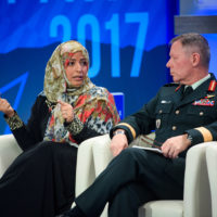 Tawakkol Karman (Nobel Peace Laureate and Founder of Women Without Chains), Jonathan Vance (Chief of the Defence Staff, Canadian Armed Forces)