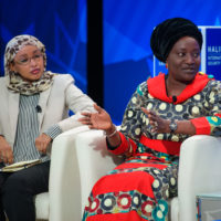 Fauziya Ali (Founder and President of Women In International Security Kenya, Chair of Sisters without Borders), Esther Ibanga (Pastor of Jos Christian Missions International, President and Founder of Women without Walls Initiative)
