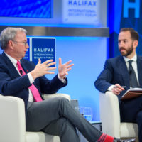 Eric Schmidt, (Executive Chairman of Alphabet Inc.) with Jonathan Tepperman (Editor-in-Chief of Foreign Policy)