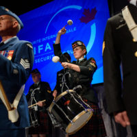 Canadian military band performs