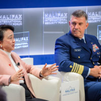 """Emily Lau (Chair of the Foreign Affairs Committee of the Democratic Party, Hong Kong) and Admiral Karl Schultz (Commandant, United States Coast Guard) speak on """"Values Trade: Our Way or the Huawei."""""""