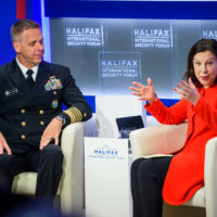 Philip Davidson (Commander of the United States Indo-Pacific Command) and Lyse Doucet (Chief International Correspondent, BBC) speak at Halifax Chat.