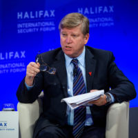 """Tom Clark (Chair, Public Affairs and Communications, Global Public Affairs) speaks on """"The World's Democracies: The Importance of Being Allies."""""""