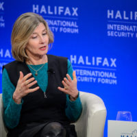 """Nancy Lindborg (President and CEO, United States Institute of Peace) speaks on """"Institution Evolution: International Law and Global Order."""""""