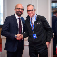 Peter Van Praagh (President of Halifax International Security Forum) greets Luis Rubio (Chairman, Mexican Council on Foreign Relations).