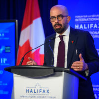 Peter Van Praagh (President of Halifax International Security Forum) gives an opening remark at the 2019 Forum.