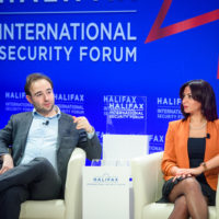 """Yascha Mounk (Associate Professor of the Practice of International Affairs, Johns Hopkins University) and Dr. Nancy Okail (Former Executive Director of the Tahrir Institute for Middle East Policy) speak on """"Revolutions of Our Time: Freedom Without US."""""""