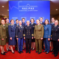 2019 Fellows with Alumnae from inaugural 2018 class at the Halifax International Security Forum