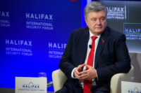 Mr. Petro Poroshenko speaks at a Halifax Chat at the 2019 Halifax International Security Forum